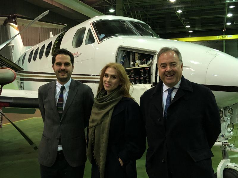 Delivery in Madrid - King Air 250 Med-Evac configuration